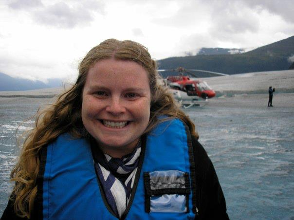 Helicopter ride to walk on a glacier in Alaska.