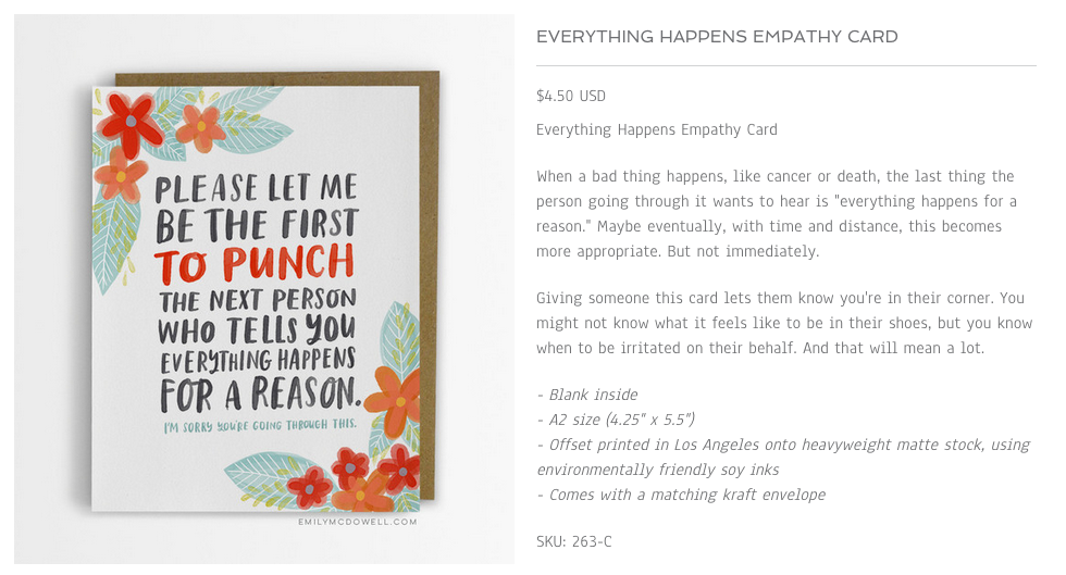 As another friend said , this card, and many of the others would also work for someone who is grieving.