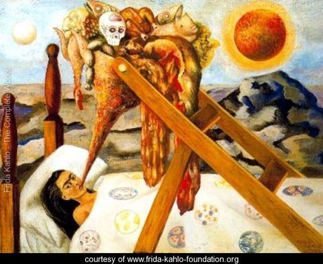 Without Hope  courtesy of  The Frida Kahlo Foundation . Read more about the doctor ordered forced feeding depicted in  Without Hope  on FridaKahlo.org .