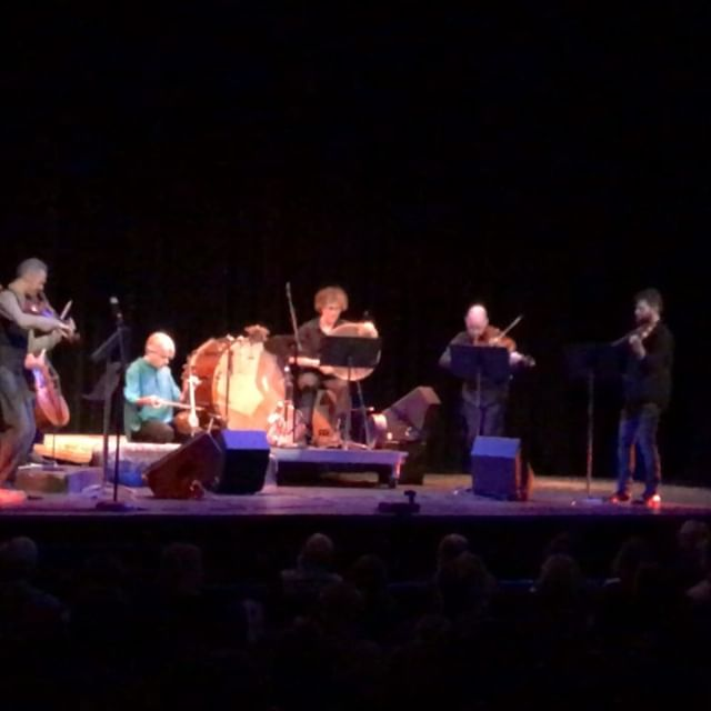 Kayhan Kalhor & Brooklyn Rider and Harold Budd & Friends (although you can't see Harold Budd in the video). 👂🏼👂🏼