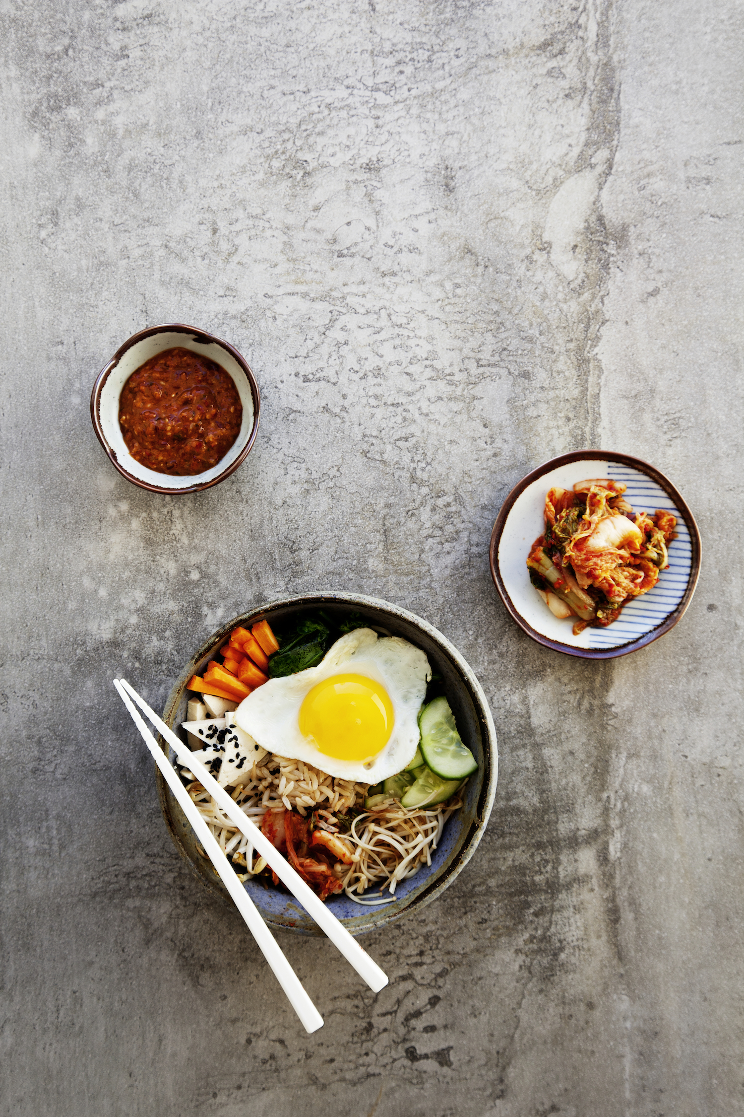 Korean Bibimbap With Kochujang Sauce Vegan Kimchi Kenkō Kitchen
