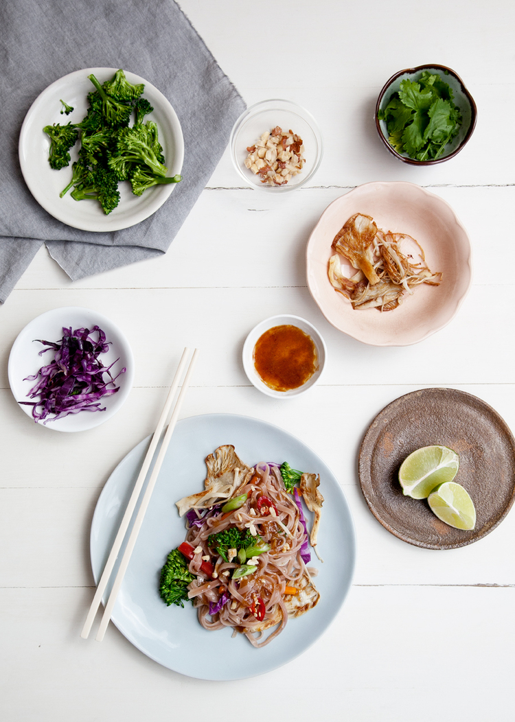 Rainbow Thai Stir Fry  // Kenkō Kitchen. Image taken from the Kenkō Kitchen Cookbook.   Australian edition   out now through Hardie Grant, out March/April through Hardie Grant UK and Rizzoli USA. Photography by  Elisa Watson , styling by Kate Bradley (Kenkō Kitchen) and Sally Bradley.