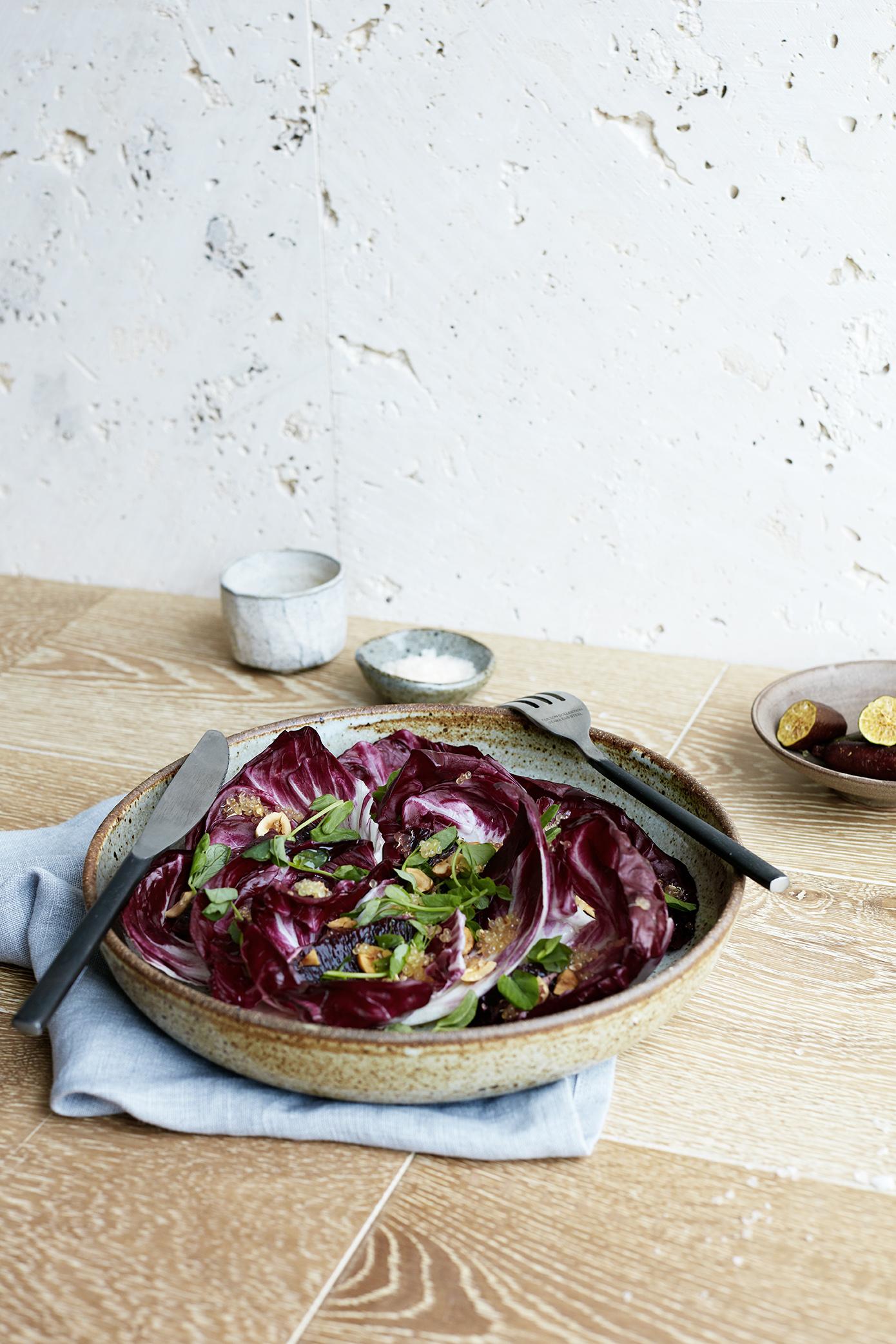 Radicchio, Blood Orange & Finger Lime Salad // Kenkō Kitchen. Photography by  Elisa Watson , styling by Kate Bradley (Kenkō Kitchen).