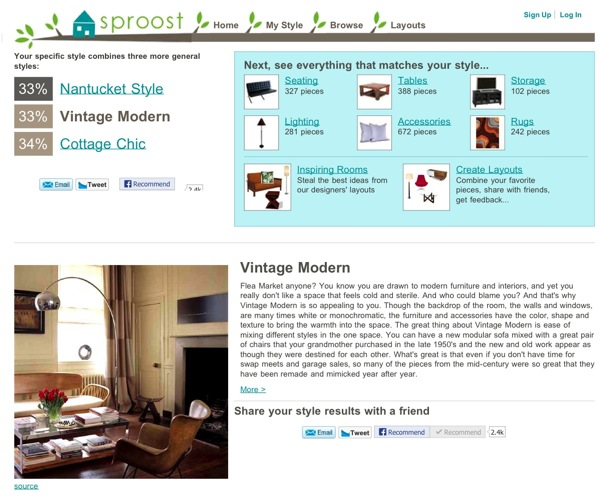 Sproost: This was probably the most accurate. I definitely feel that Vintage Modern is what describes my style the most.
