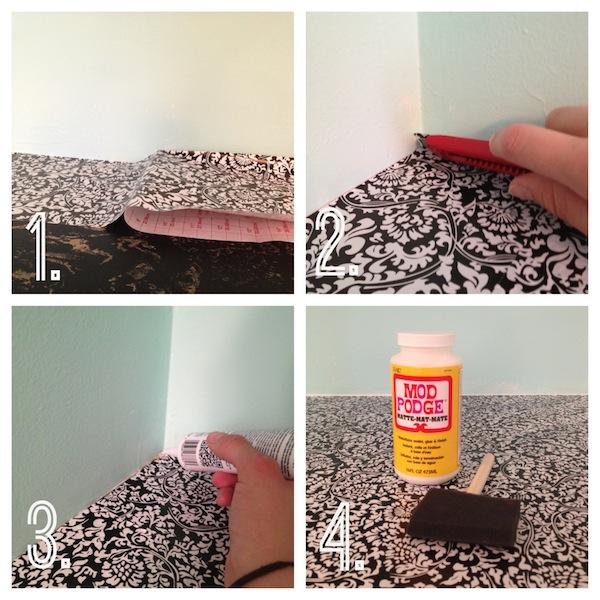 DIY Countertop Revival using contact paper! -- Rental Revival