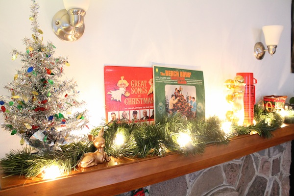 A Very Rental Revival Xmas: Thrift Store Mantle