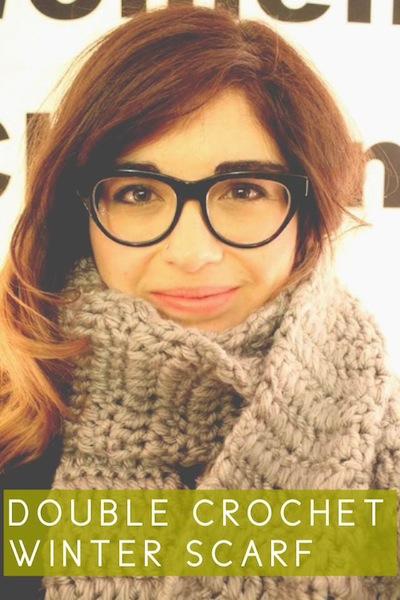 Double Crochet Winter Scarf -- Rental Revival