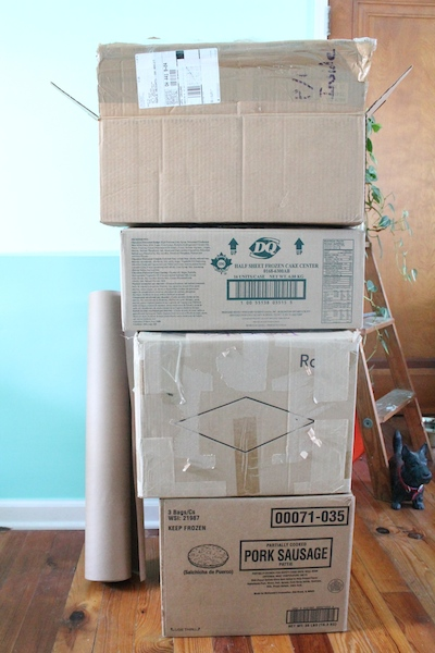 One always acquires the most random assortment of boxes from friends and family...   Rental Revival