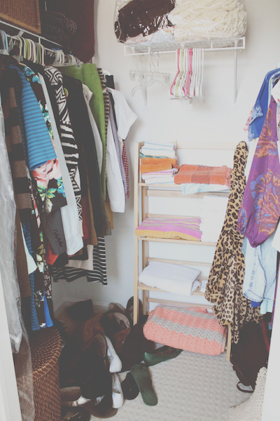 Closet Before |  Rental Revival