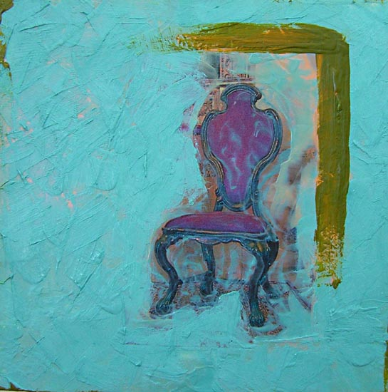 The Distance Next Door   ​2009 | encaustic on panel | 8 x 8 | $350