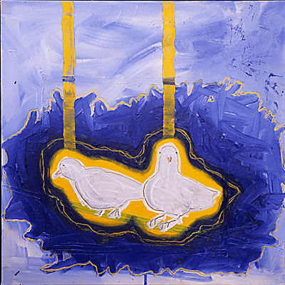  Where Did They Come From?   2005   oil on canvas   24 x 24   $900
