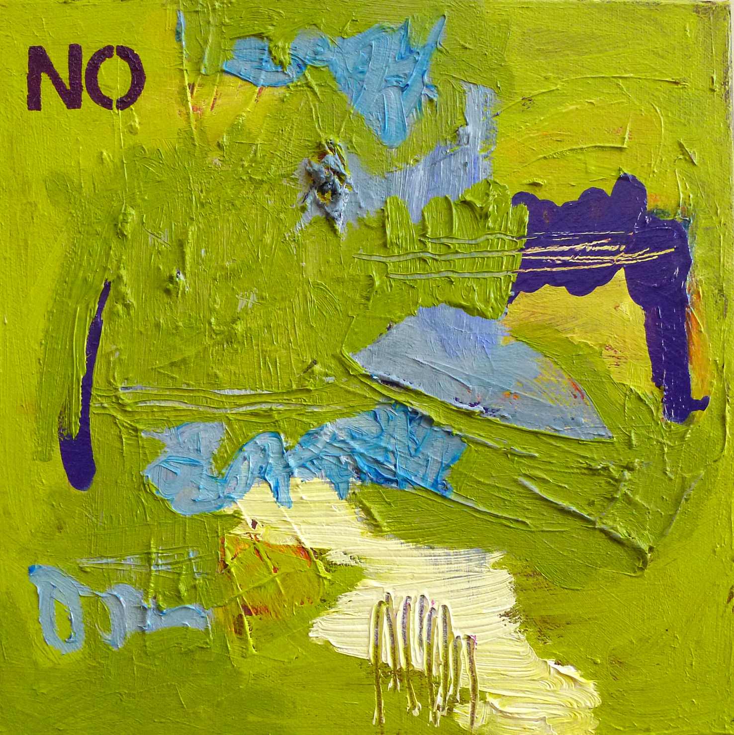 Submit Or Be Destroyed   2014 | oil on canvas | 12 x 12 | $300