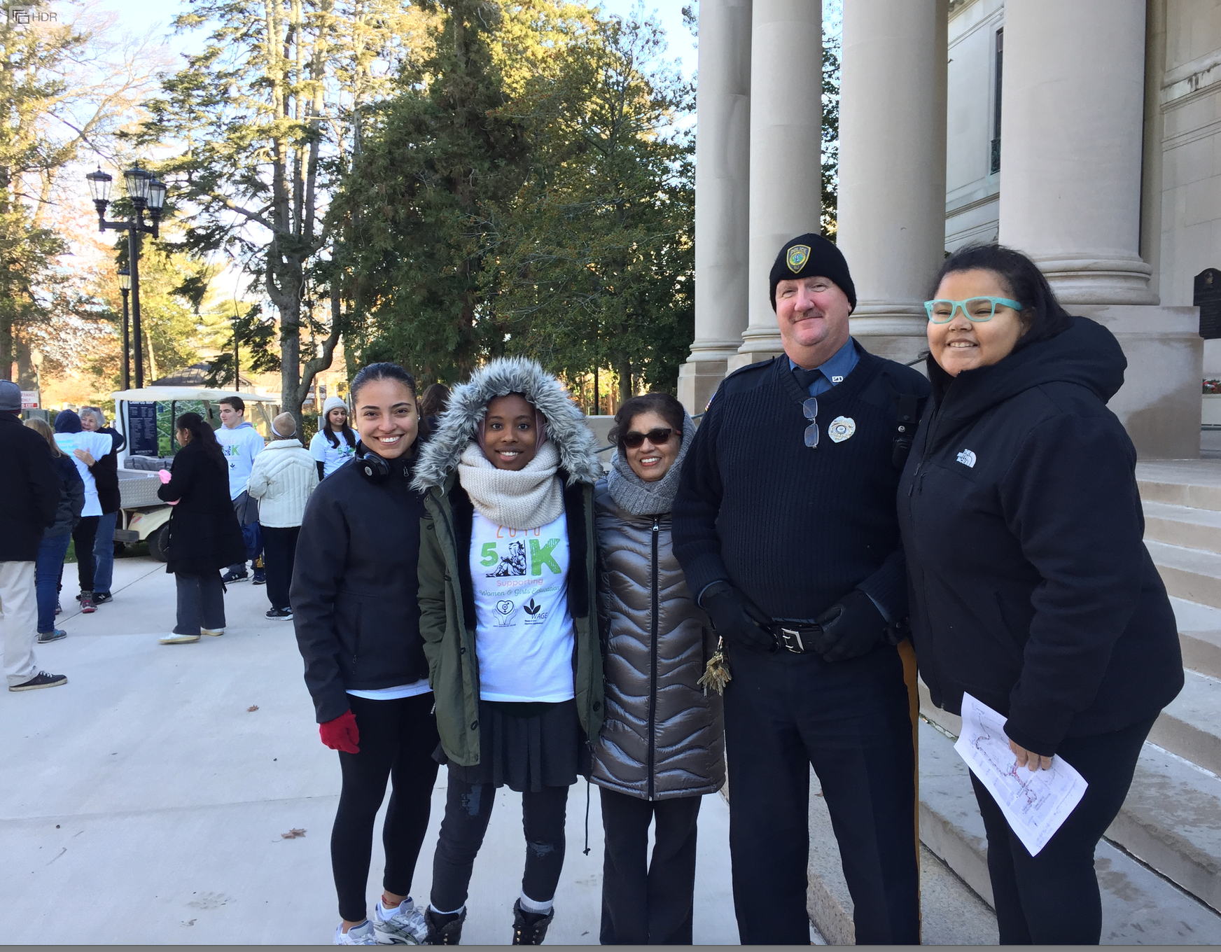 December 4, 2016. SAGE organized a 5K walk-run to benefit girls' education at Monmouth University, West Long Branch, New Jersey.