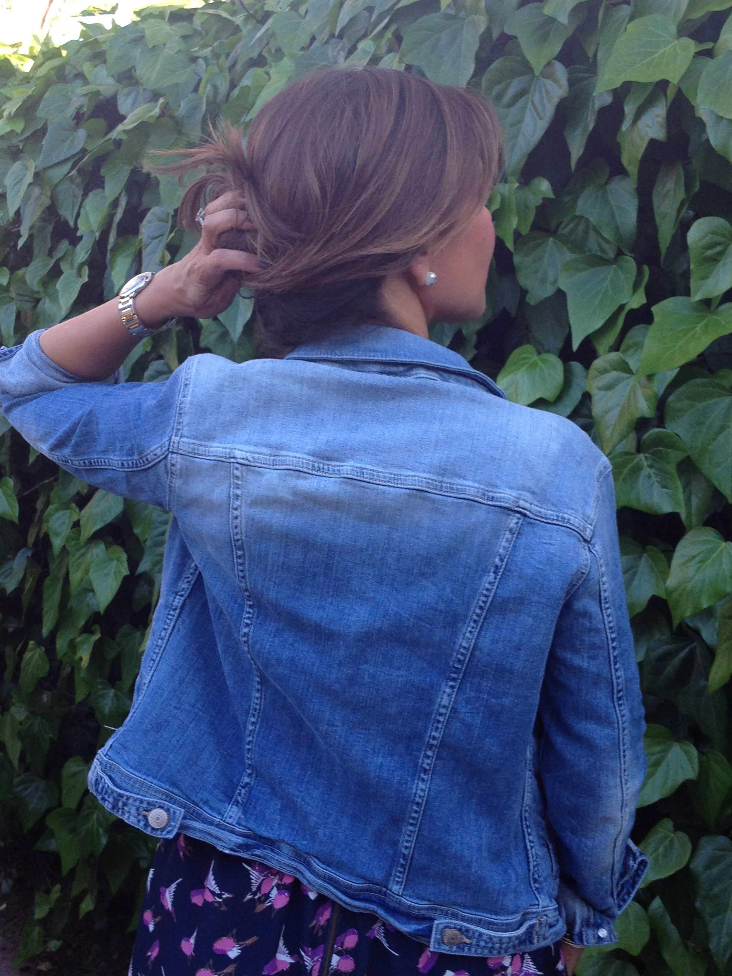 Back of the Zara denim jacket. Love the ombre detail!