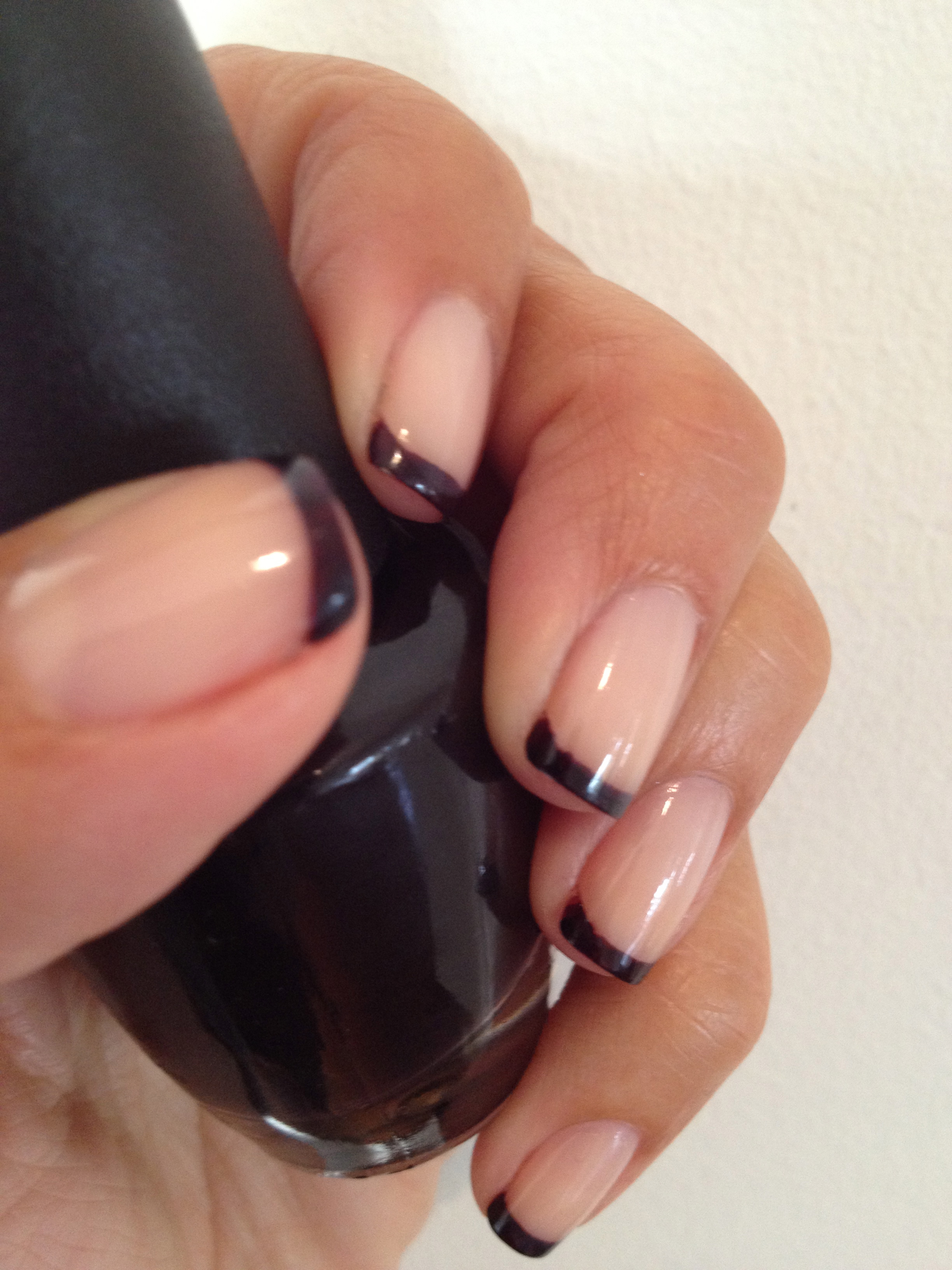 Tips are OPI's Lincoln Park After Dark.