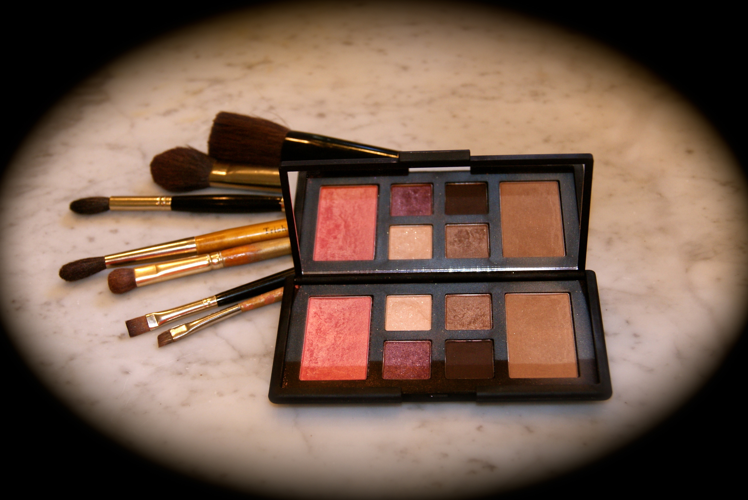 Nars, The Happening Eye & Cheek Palette, $65. All shades have a slight shimmer.