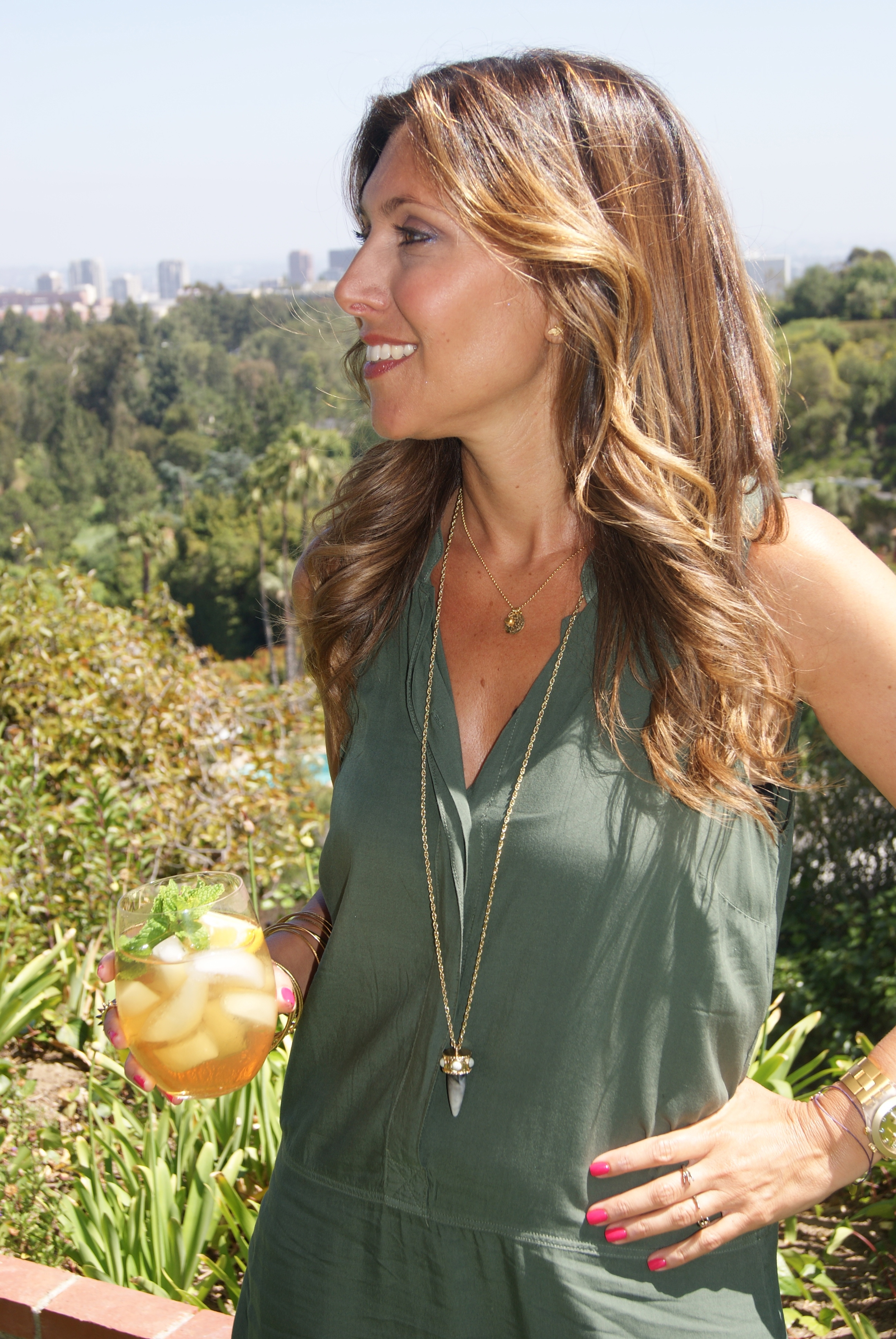 Style with costume jewelry (layered look works well). Horn necklace from Candi Stamm's Jewelryarama.