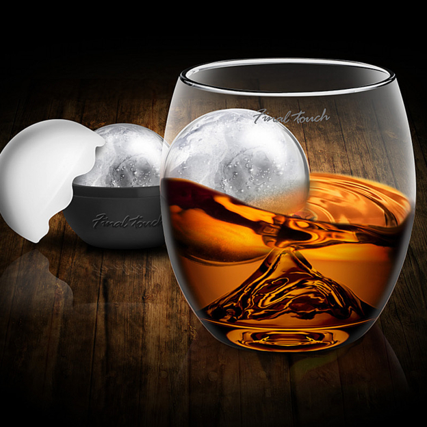 For the guy who likes his scotch chilled in style.  Two of these glasses make the perfect gift for the Dad who loves his after-work cocktail. Details on  OpenSky.com .  On The Rock Glass with Ice Ball Mold , $25 each.