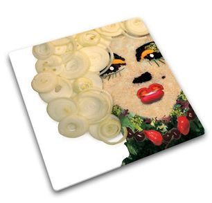 I love and own this retro cutting board. Fashion meets function here. Marilyn Worktop Saver $25