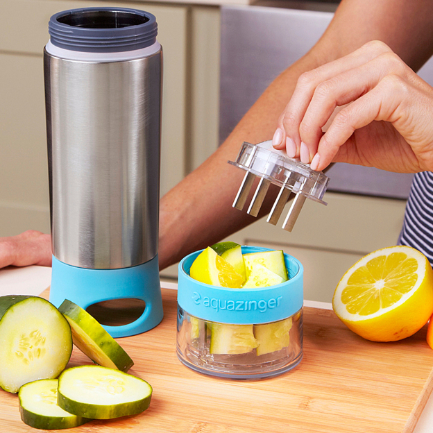 Pick up a few of these for your guests and they will love infusing their favorite fruit or veggie with water. Available on  OpenSky  in several colors! Aqua Zinger Fruit Infusing Water Bottle by Zing Anything , $26.