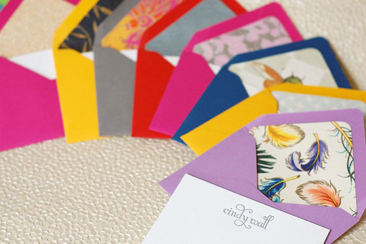 It's always special to receive a personalized gift.These little lettter-press cards are gorgeous and something your host will appreciate receiving. Haute Papier Collection, Bold & Beautiful Foil Stamp and Letterpress Enclousures and Notes  $40-$75