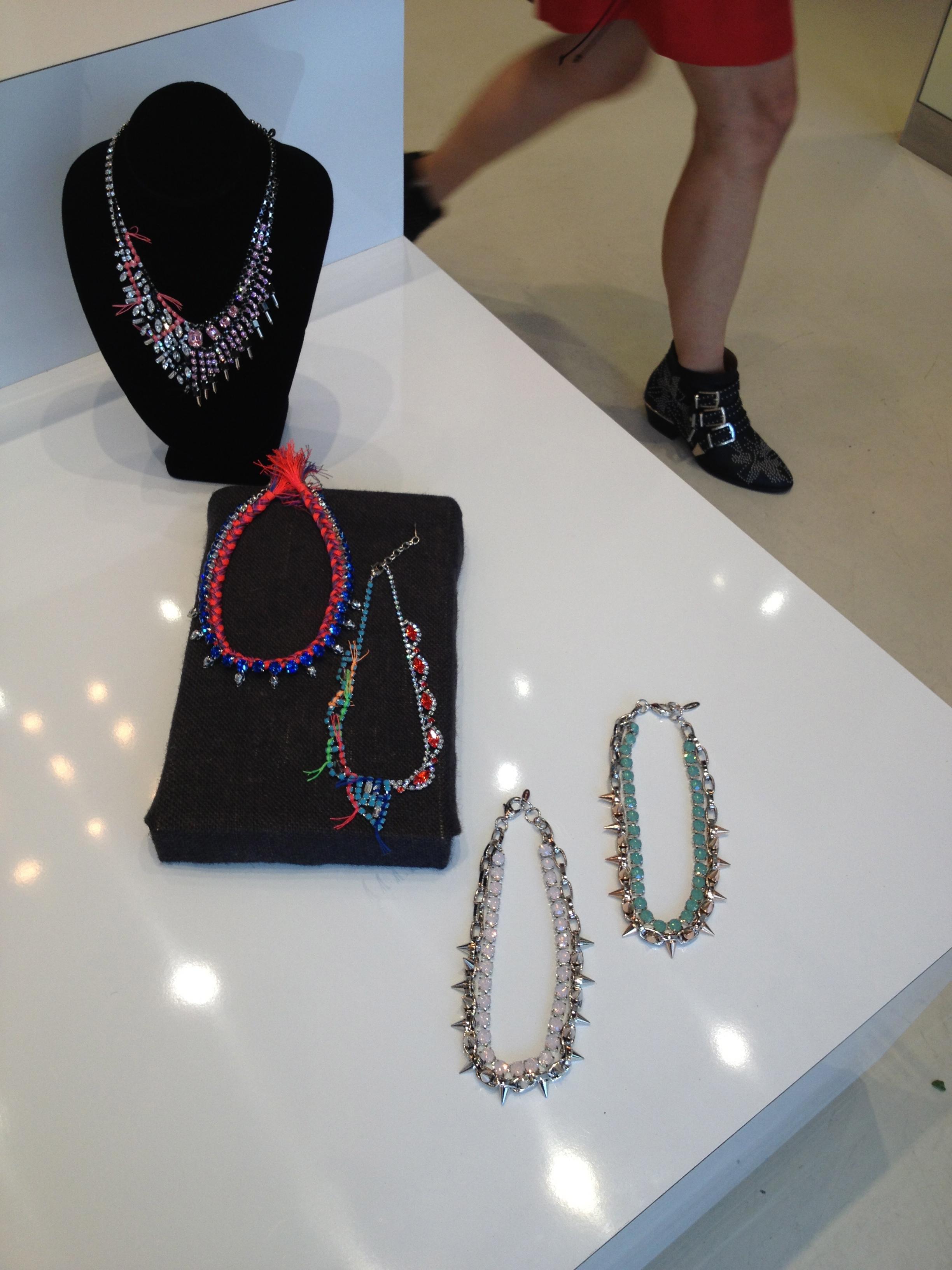 Fabulous, statement necklaces.