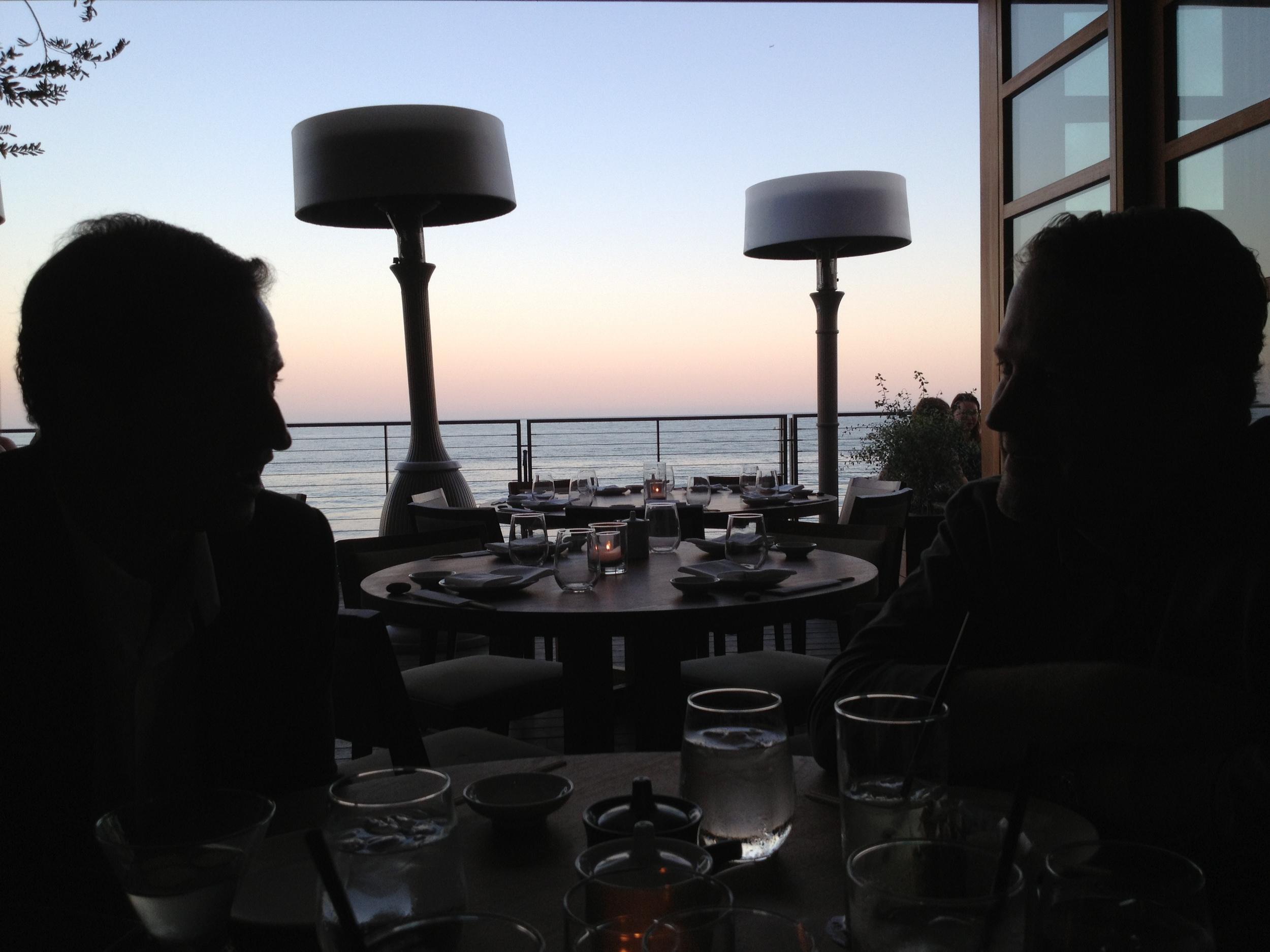 Photo shot at Nobu Malibu. Pictured here: Michael Meyers and Michael Druyanoff.
