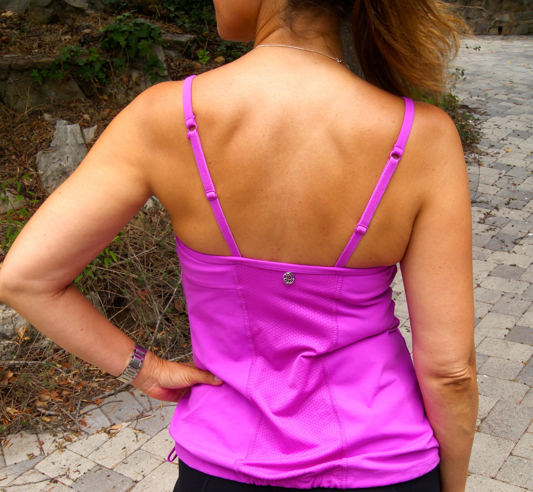 Straps in back can be worn two different ways.