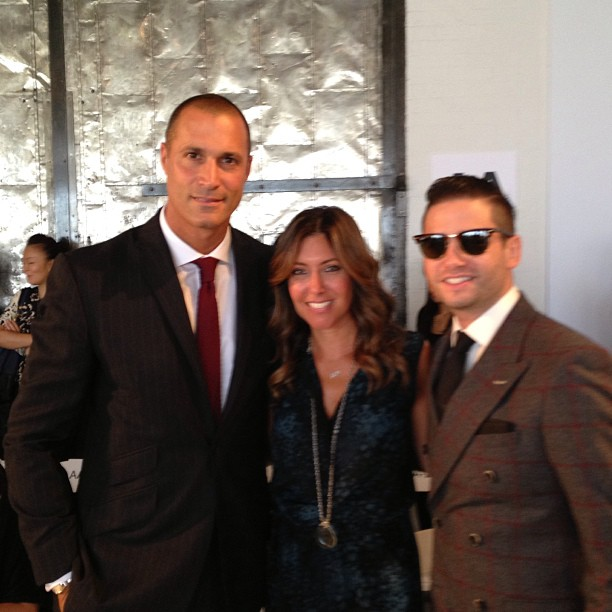 Between two great men, photographer Nigel Barker (left) and Josh Flagg of Million Dollar Listing (right).