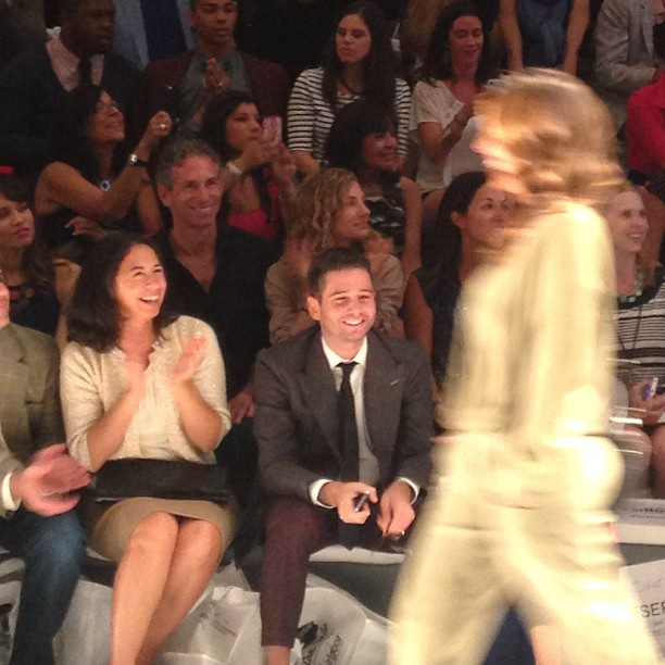 My good friend  Josh Flagg  from Bravo's Million Dollar Listing LA watching me strut from the front row!