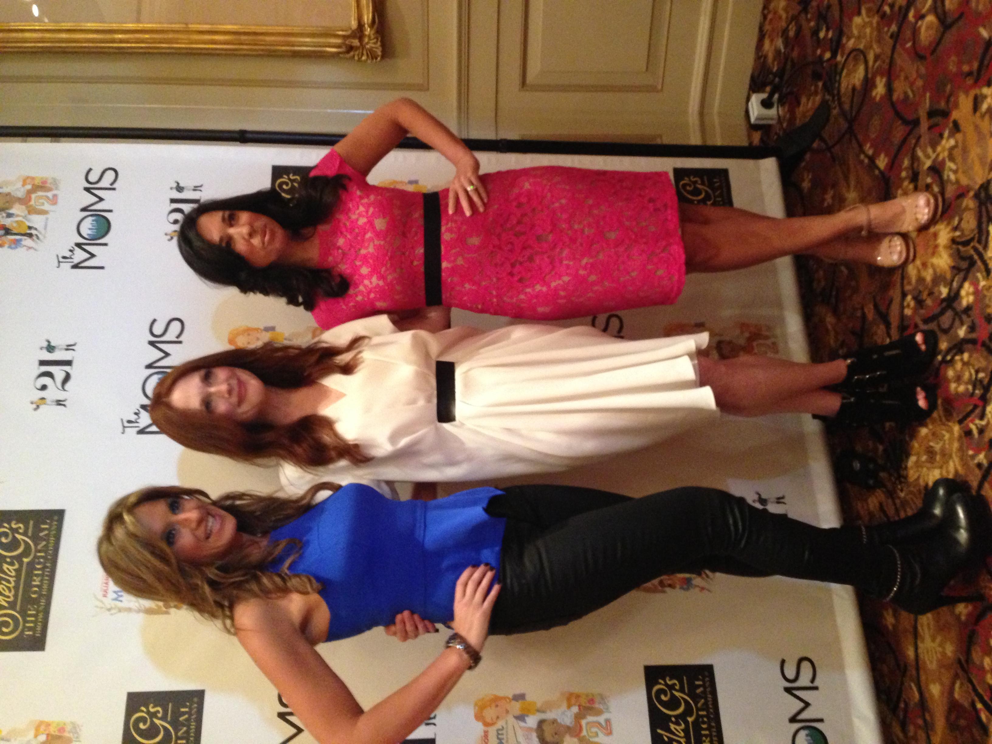 Julianne Moore with Denise Albert and Melissa Musen Gerstein, founders of  The Moms .  Julianne is wearing an Alexander Wang dress..love it!