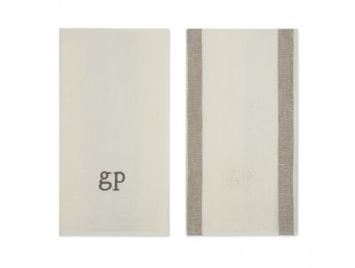 Goop:  Exclusive monogrammed striped set of two tea towels, $99