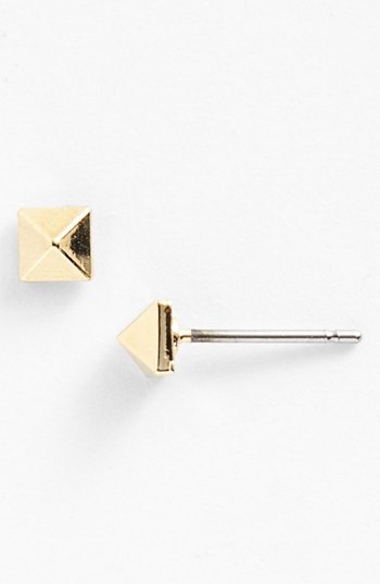 Marc by Marc Jacobs   tiny Pyramid Stud earrings, $42