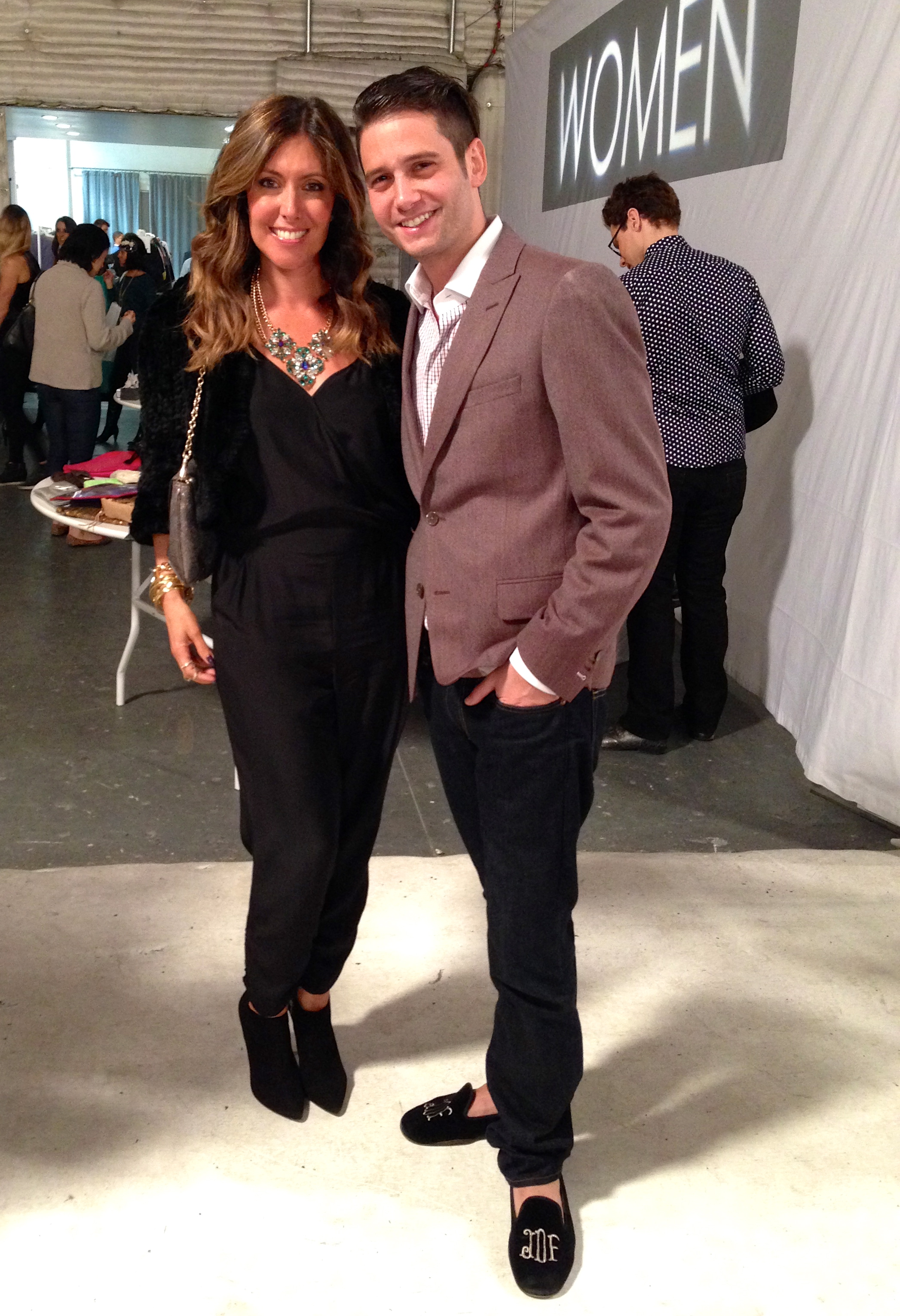 With Josh Flagg from Bravo's Million Dollar Listing LA at the Gilt Groupe Warehouse sale! Statement necklace by  BaubleBar . Fur jacket by Pologeorgis.