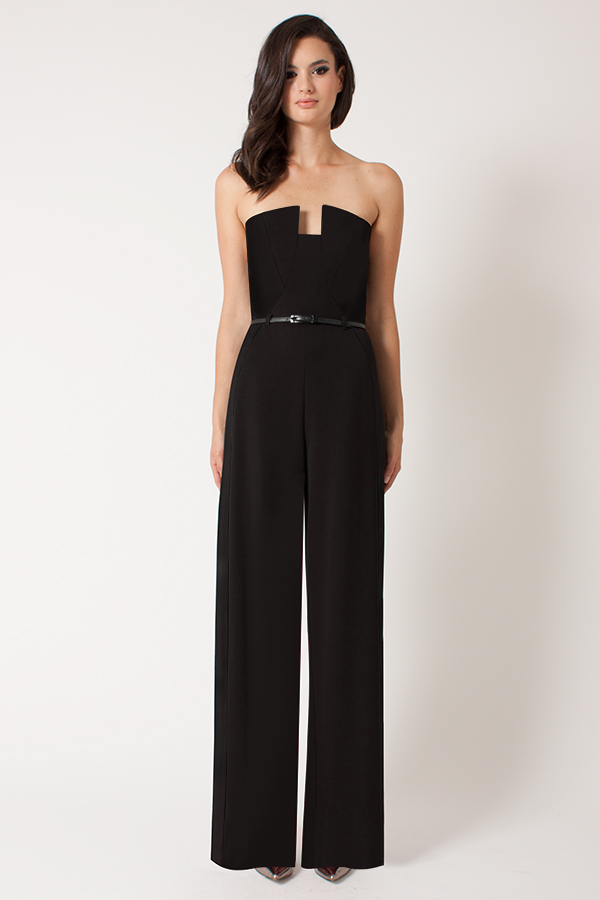 High-waisted jumpsuit by Black Halo, $390