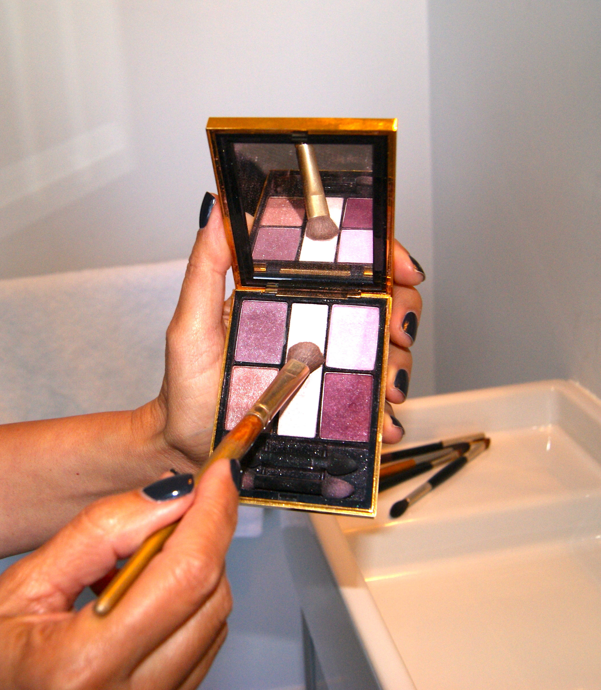 Shadow: YSL Ombres 5 Lumieres Palette, Indian Pink 2, $58 .