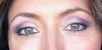 Shadows: YSL Ombres 5 Lumieres palette , Indian Pink 2 $58.. Eyeliner: Yves Saint Laurent Dessin Du Regard Waterproof Long lasting eye pencil, $30. Color 5: Shimmering Burgundy. Mascara:  Volum' Express Colossal by Maybelline, $4.19 on Ulta.