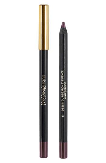 Yves Saint Laurent Dessin Du Regard Waterproof Long lasting eye pencil, $30.  Color 5: Shimmering Burgundy.