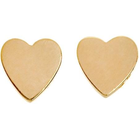 Jennifer MeyerGold Small Heart Stud Earrings, $350
