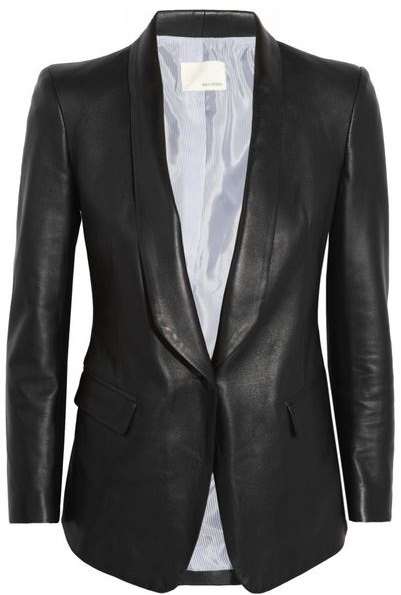 Band Of Outsiders Leather blazer, $1995