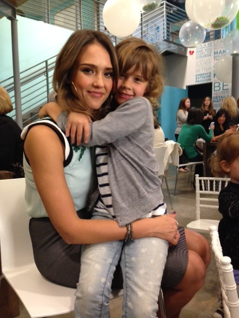 Jessica Alba with her daughter Honor.