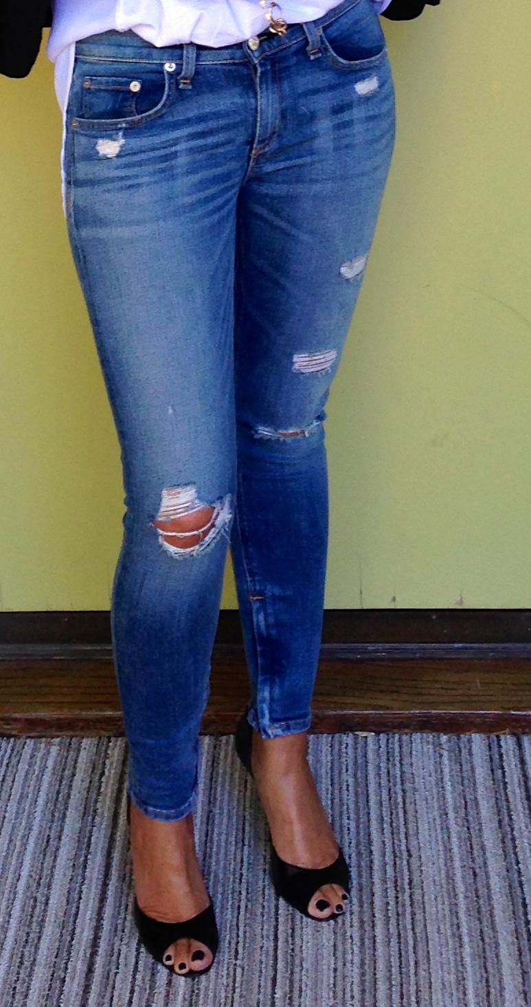 Jeans: Rag & Bone, The Zipper Capri Jeans, $231