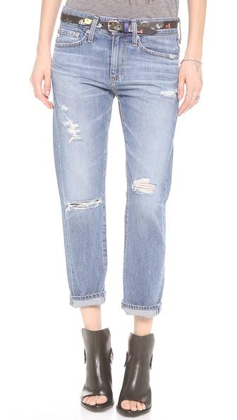 Jeans: AG Adriano Goldschmied, The Drew straight leg boyfriend , $185.