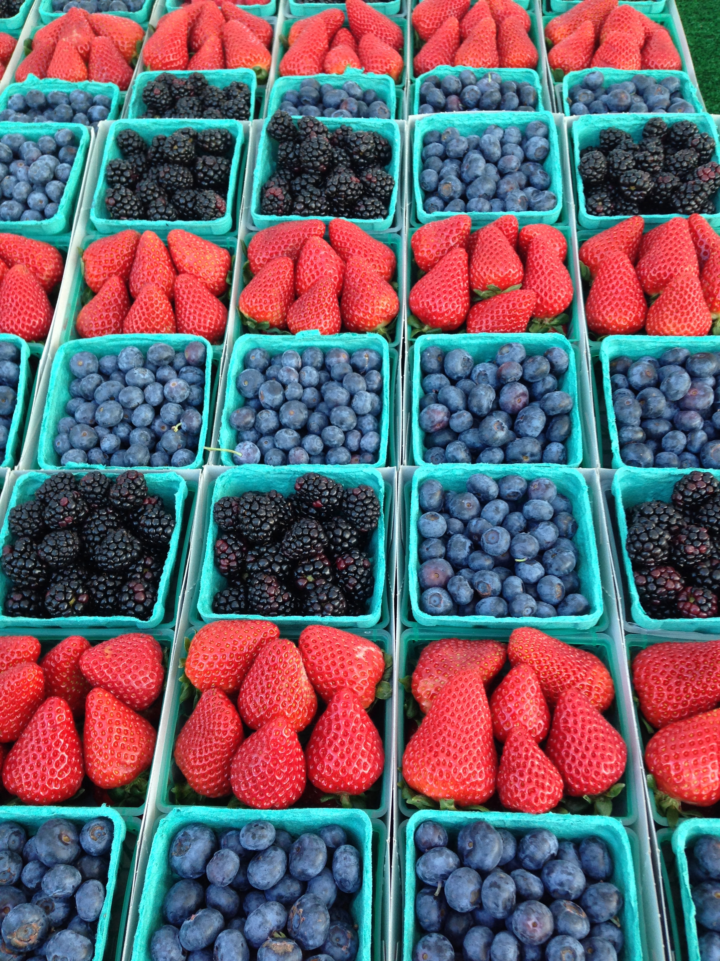 Fresh berries from the Brentwood Farmer's Market. SWEET!