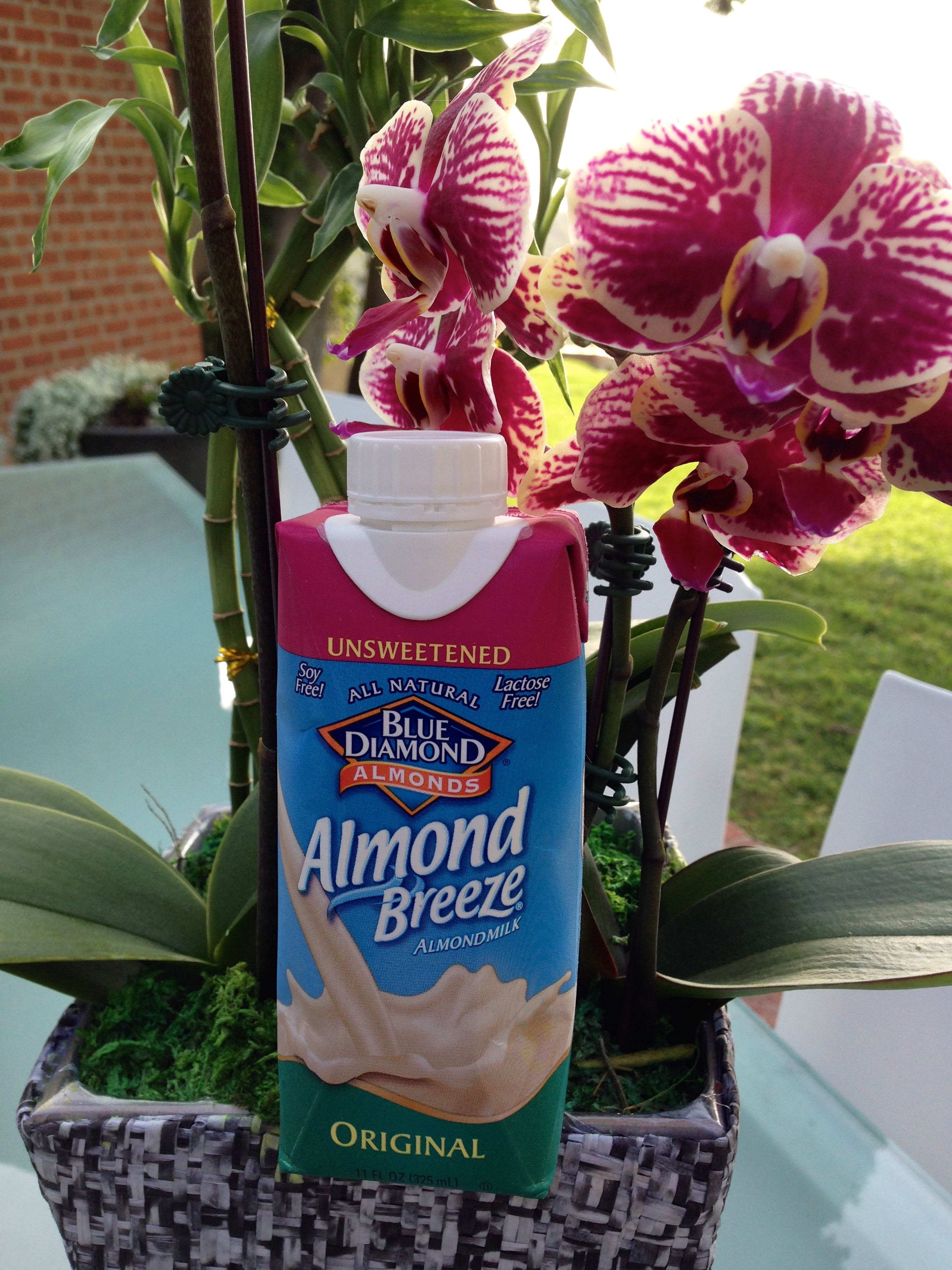 Blue Diamond delicious almond milk.