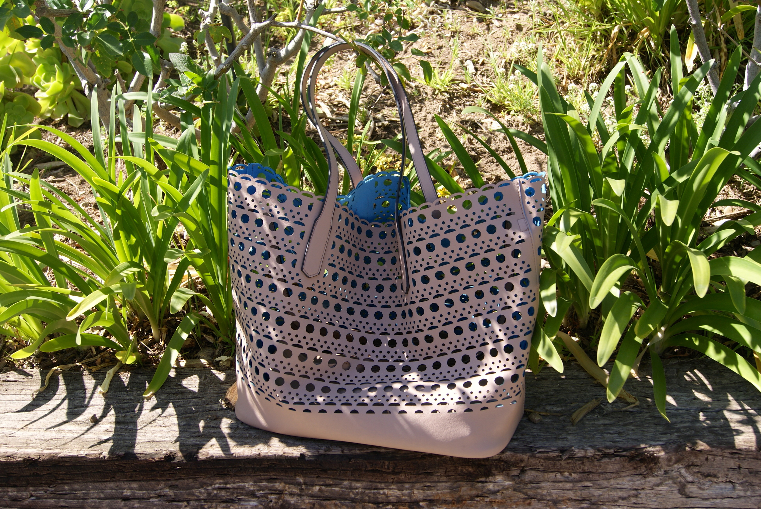 Perforated leather bags, $130. To order, contact Esther Feder, essiela@gmail.com , 310-490-5515.