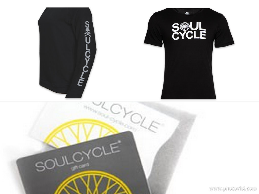 SoulCycle gift cards  here and great men's apparel  here