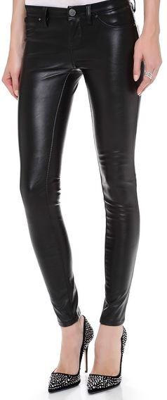 Blank Denim Vegan Leather Skinny Pants, $98