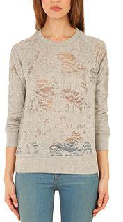 IRO Nona Shredded Sweatshirt, $130