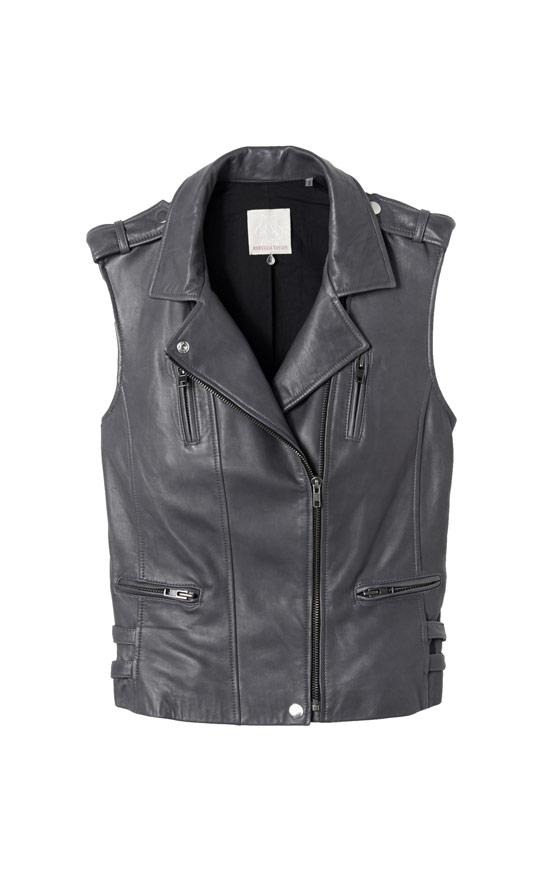 Rebecca Taylor Leather Moto Vest, $795